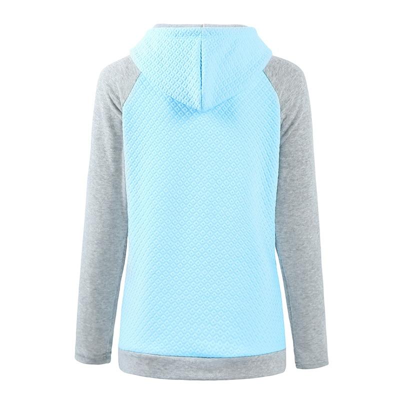 Hoodie Frauen Farbe Block Kordelzug Kapuze Briefe Drucken Sweatshirts Lange Raglanärmel Casual Warme Herbst Winter Pullover
