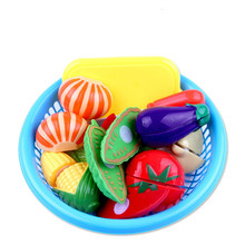 Doll House Play Fruit, Baby Tableware and Toys Vegetable Fruit Wash Cutting Accessories Learn Kitchen