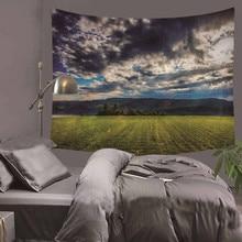 Гобелен Великолепный лесной пейзаж Красивый Wall Art Гобелен 130cmx150cm Европа Гостиная