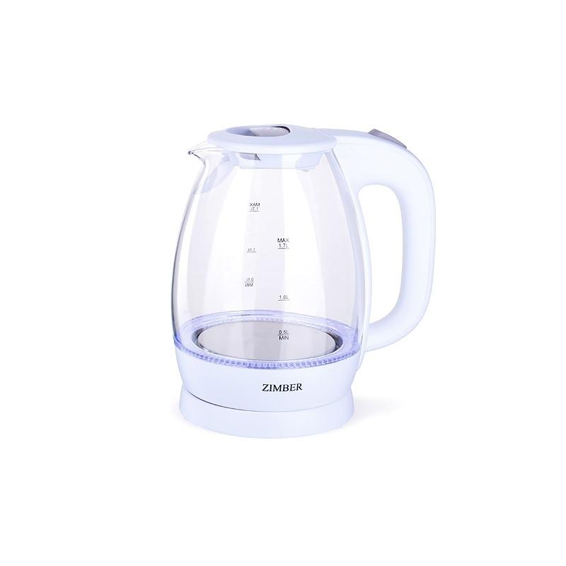 Чайник электрический ZIMBER, 1,7 л, 2200W, с подсветкой