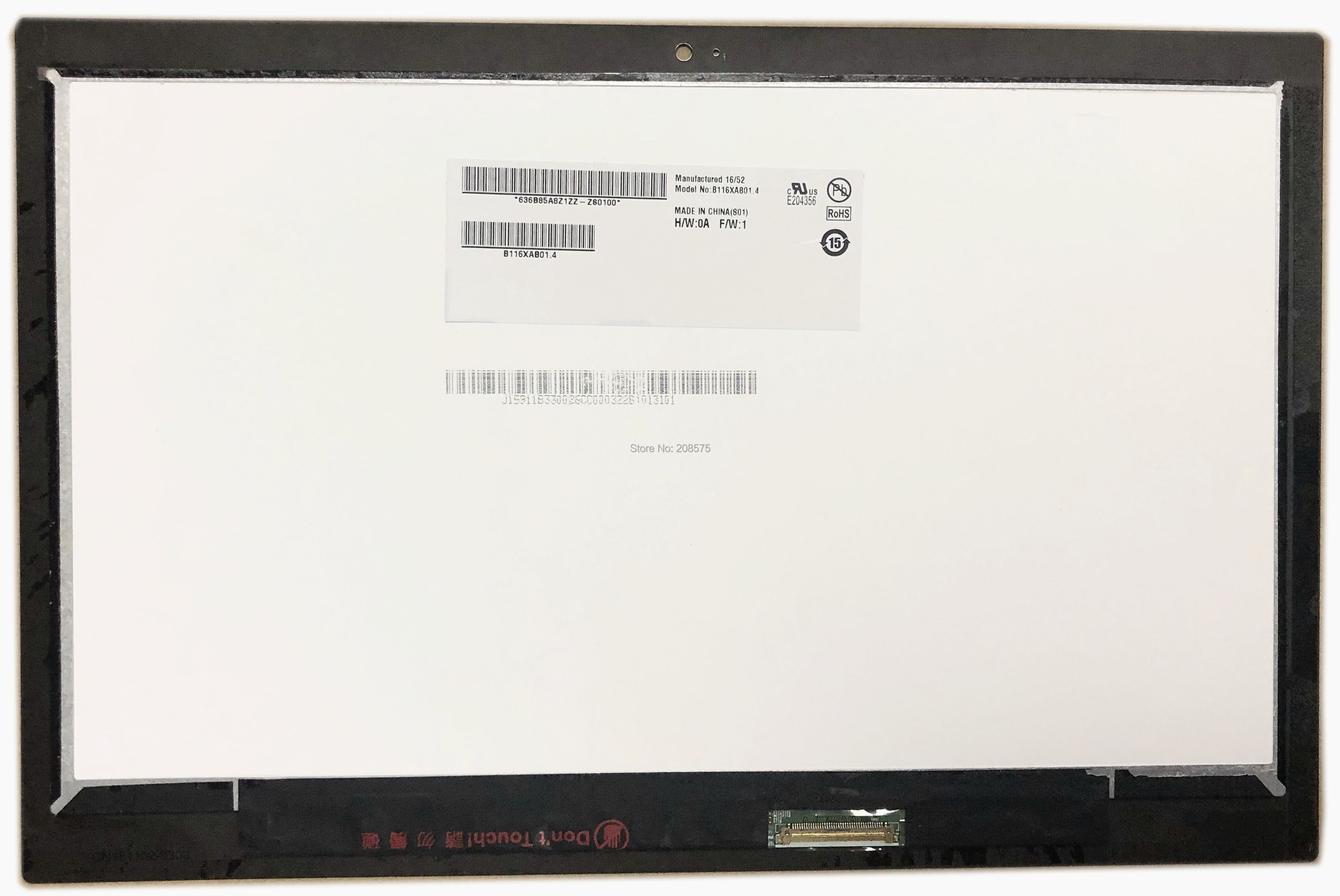 Free shipping 11.6'' B116XAB01.4 For Acer Spin Chromebook 11 R751T R751T C4XP N16Q14 LCD Touch