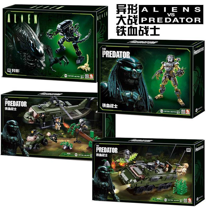 New Predator VS. Alien Movie Series Building Blocks Predator Model Action Bricks Figure Toys For Children
