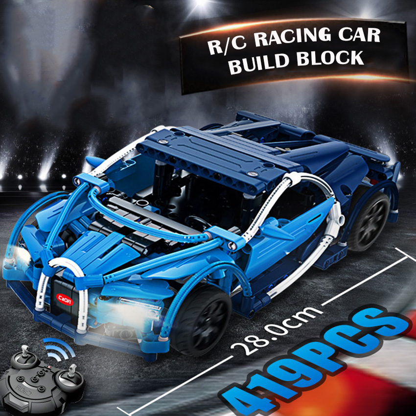 28 CM RC Voiture Bugatties Modèle blocs de construction Ensemble batterie rechargeable 419 pièces Brique appliquer à Legoes LEPINS technique Jouets Cadeau Garçon