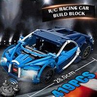 28CM RC Car Bugatties Model Building Blocks Set Rechargeable Battery 419pcs Brick Apply to Legoes LEPINS technic Toys Gift Boy