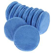 Microfiber Wax Applicator 12pcs Car Cleaning Polish Wax Foam Sponge Polishing Sponge, Blue