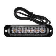 VODOOL 12-24V 6 LED 18W Slim Amber Flash Light Bar รถคำ(China)