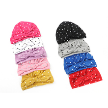 new winter baby boys girls turban hats knotted beanies caps indian children baby hat infant gift accessories Baby Cotton Caps Rabbit Ears Knotted Dot Indian Candy Cap Children's Hat Turban Cap for Girls Infant Accessories Newborn