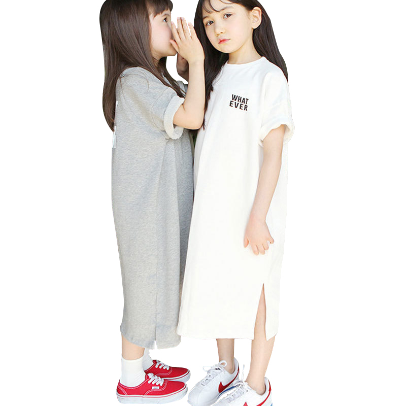 little big sister clothes age for 2 -18 yrs children casual <font><b>t</b></font>-<font><b>shirt</b></font> style <font><b>dress</b></font> irregular long <font><b>dress</b></font> 2019 new summer kids frocks image
