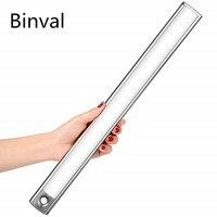 Binval USB Перезаряжаемый светодиодный датчик движения под шкафом свет шкафа беспроводной ночник для шкафа кухни