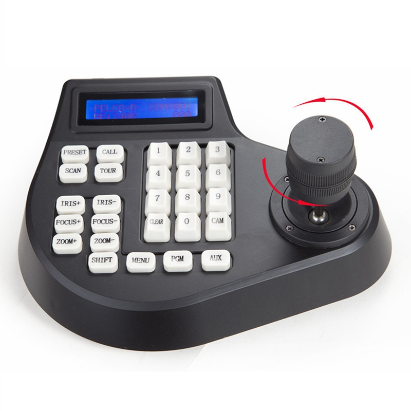 Mini Coaxial CCTV Keyboard Controller LCD 1 5km Joystick RS485 PTZ Speed Dome Camera Bracket For