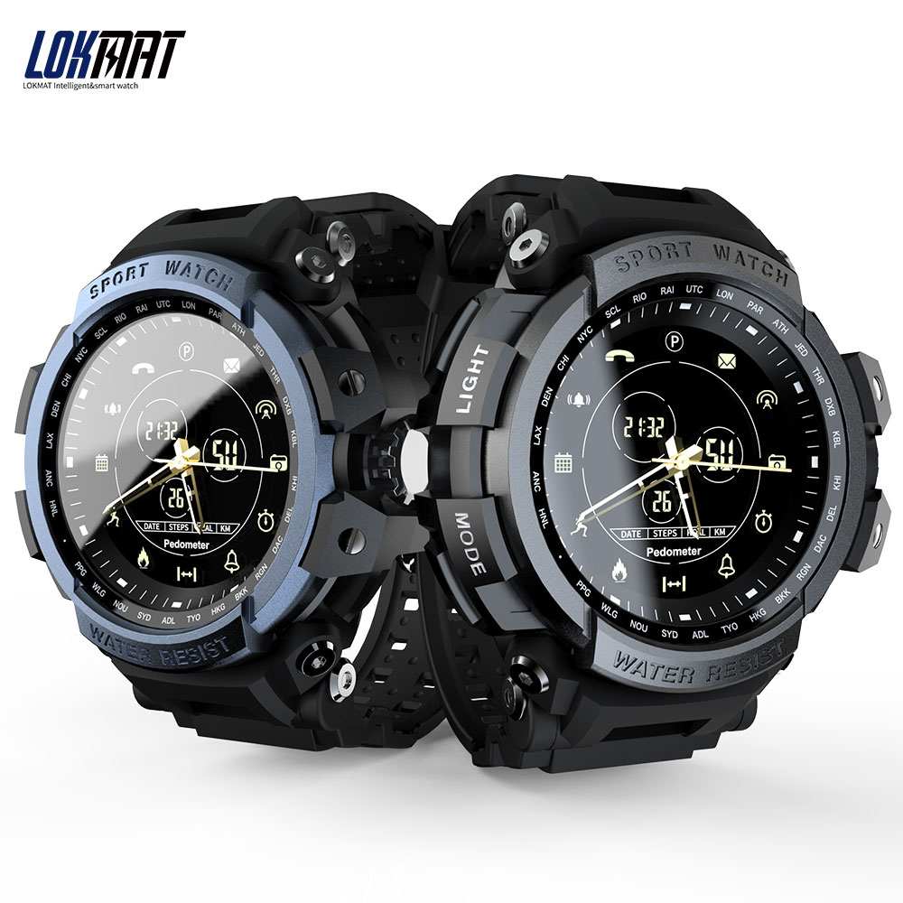 LOKMAT MK28 <font><b>BT</b></font> Sport Smart <font><b>Watch</b></font> Life 5ATM Waterproof 1 Year Standby Call Reminder Digital Clock SmartWatch For ios and Android image
