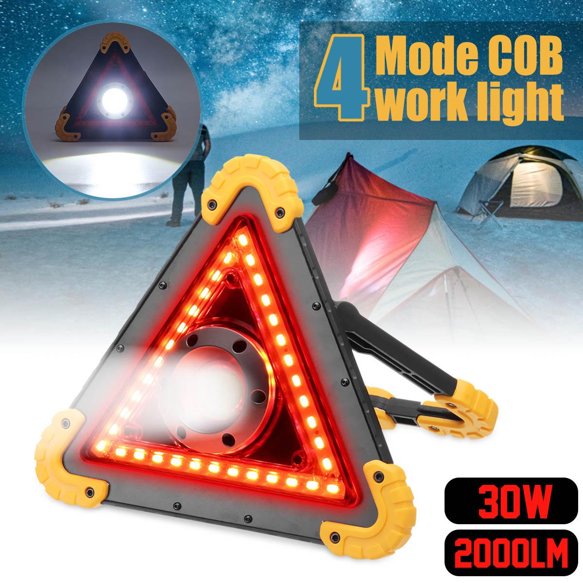 Projecteur portatif mené a mené la lumière extérieure Rechargeable de batterie de la lumière 18650 de travail pour le Camping de chasse a mené la lampe-torche latérale