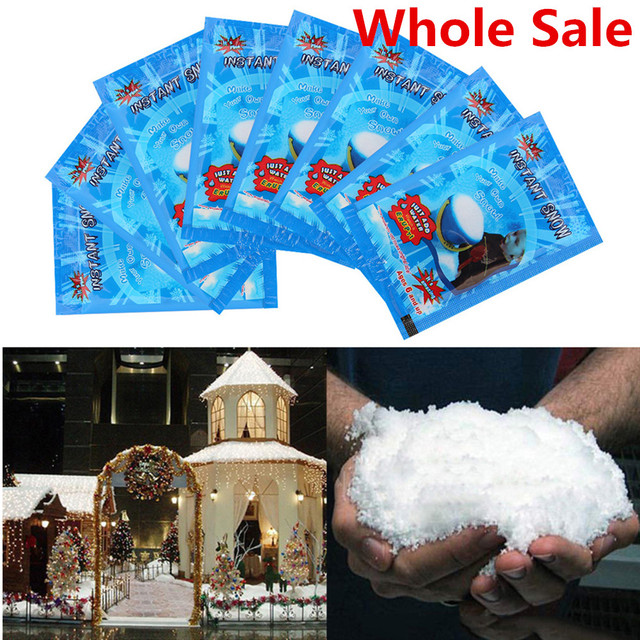 Whole Sale Christmas Fake Magic Instant Snow Fluffy Super Absorbant