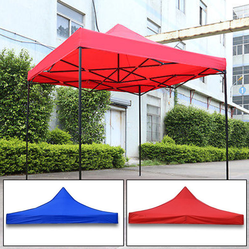 3 m * 3 m imperméable à l'eau ombre de soleil Pop Up tente de jardin Gazebo auvent extérieur chapiteau marché ombre partie plage bleu/rouge tente
