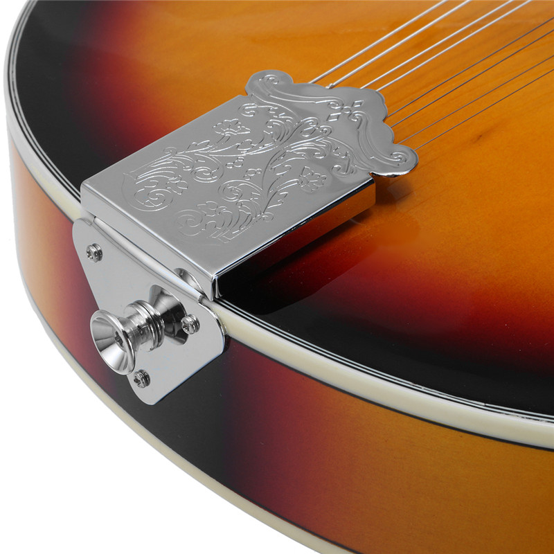 SENRHY coucher de soleil couleur palissandre 8 cordes F trou guitare basse électrique 20 Fret ukulélé pour les amateurs d'instruments à cordes musicales chaud - 6