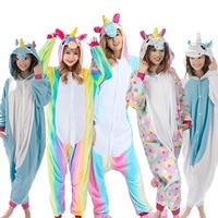 Unisex Pegasus Halloween Flannel Animal Autumn Unicorn Stitch Dinosaur Pajamas Sets Cartoon Sleepwear For Women Men