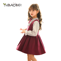 2019 New Child Kids Girls Quality Dress + Blouse 2pieces Sets Children Clothing 2pcs Causal Street Baby Girls Party Cloths Suit