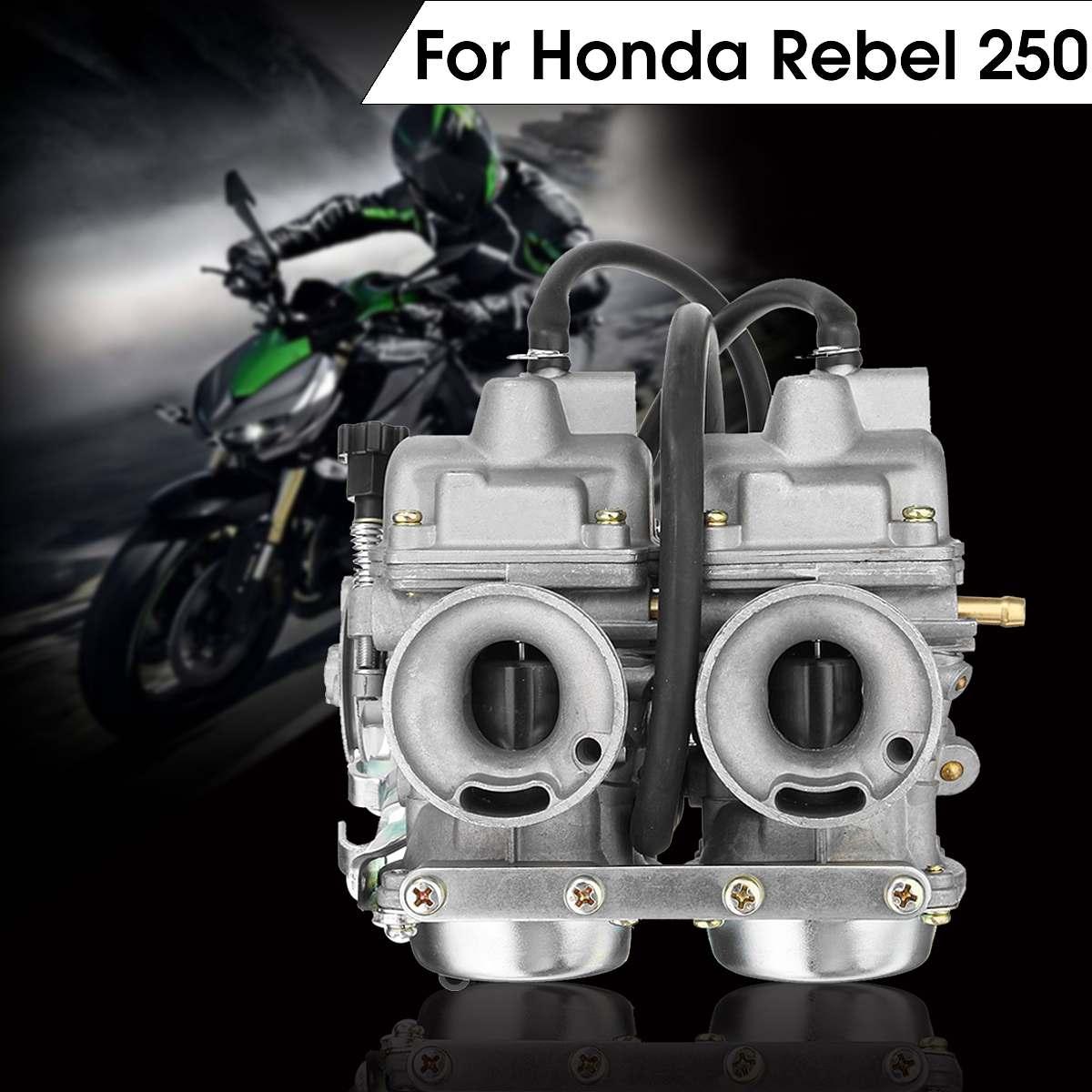 Double carburateur double chambre de carburateur filtre à essence Assy pour Honda rebelle CA CMX 250 C CMX250 CA250