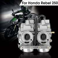 Twin Carburetor Dual Carb Chamber Assy Fuel Filter for Honda Rebel CA CMX 250 C CMX250 CA250
