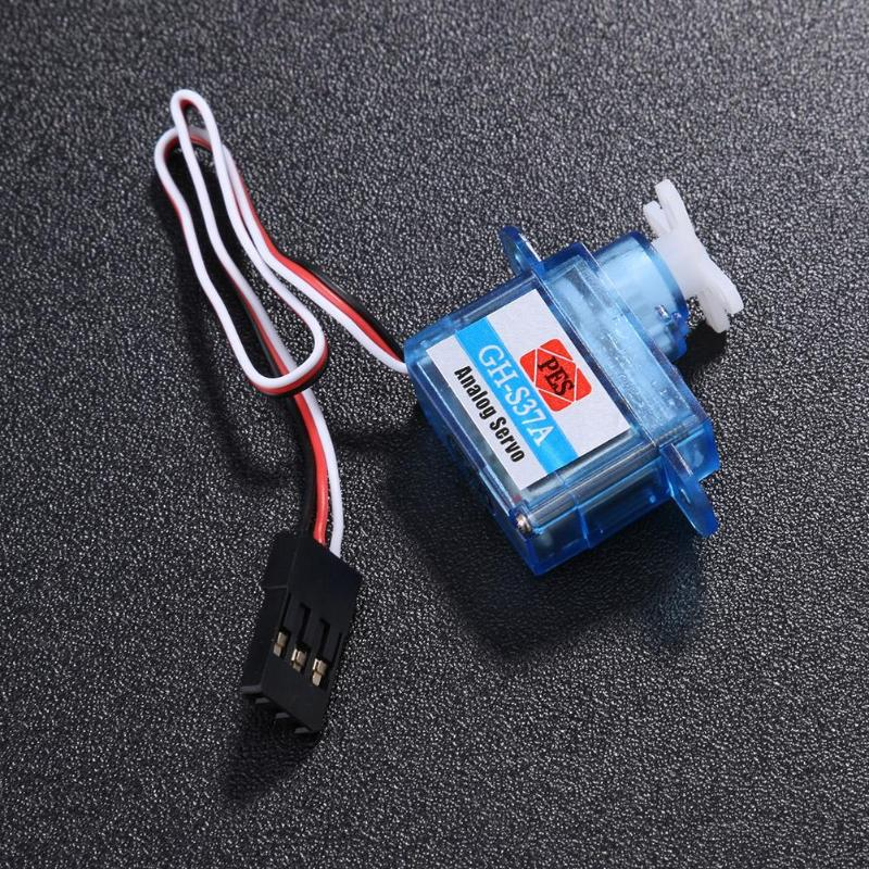 3.7G Tiny Micro Servo 1pc RC Mini Plastic Gear Analog Servo with Screw Bag for RC Airplane Helicopter Drone Boat Parts Accessory image