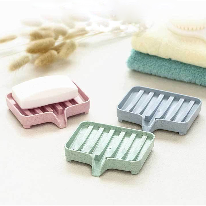 Plastic Shower Soap Storage Rack Tray Soap Box Tray Tool 1Pcs Soap Dish Plate Holder Sponge Holder Drain Soap Box