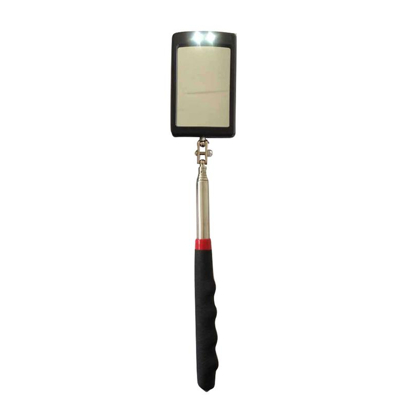Vehicle Bottom LED Telescopic Inspection Mirror Amplification Detection Mirror Led Emergency Lamp Outdoor Lights For Car Repair