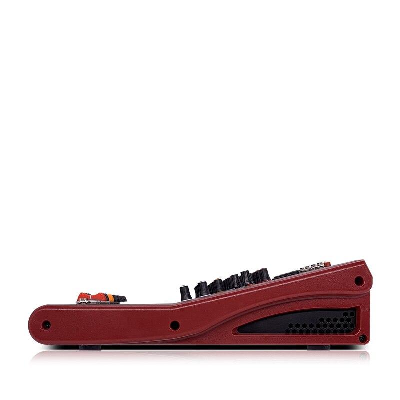 LEORY Professional USB Bluetooth mezclador 4 canales DJ consola mezclador controlador Karaoke 48V amplificador PARA Karaoke KTV partido - 4