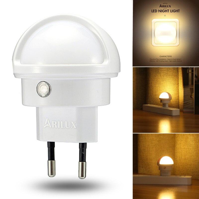 CLAITE LED Night Light Light Sensor Type 360 Angle Rotated Warm White LED Night Light Lamp EU Plug Indoor Lighting NEW