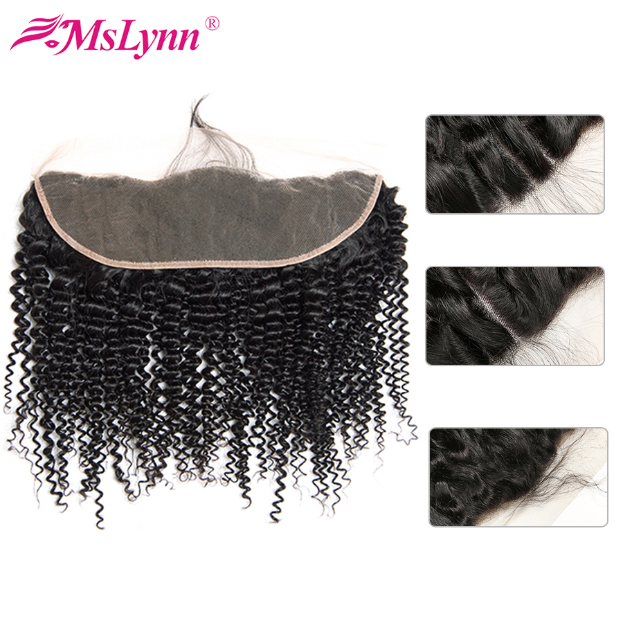 Afro Kinky Curly Hair Lace Frontal 13x4 Lace Frontal Closure Brazilian Hair Weave Closure Non Remy