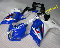 Лидер продаж, наборы для тела Suzuki GSX650F 08 09 10 11 12 13 GSX650 F сине белые Aftermarket кузовов мотоциклетный обтекатель abs Наборы