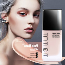 Music Flower Waterproof Concealer And Foundation Liquid Makeup Foundation Natrual Long-lasting Moisturizer Refreshing Base 30ml все цены