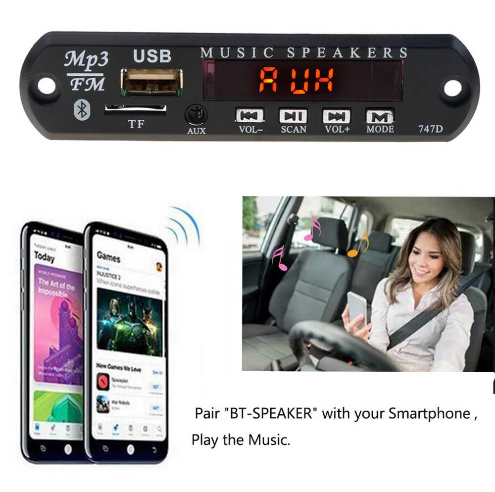 KEBIDU العالمي سماعة لاسلكية تعمل بالبلوتوث 5 V 12 V MP3 WMA فك مجلس وحدة صوت USB SD (TF) AUX FM راديو مع البعيد ل سيارة DIY