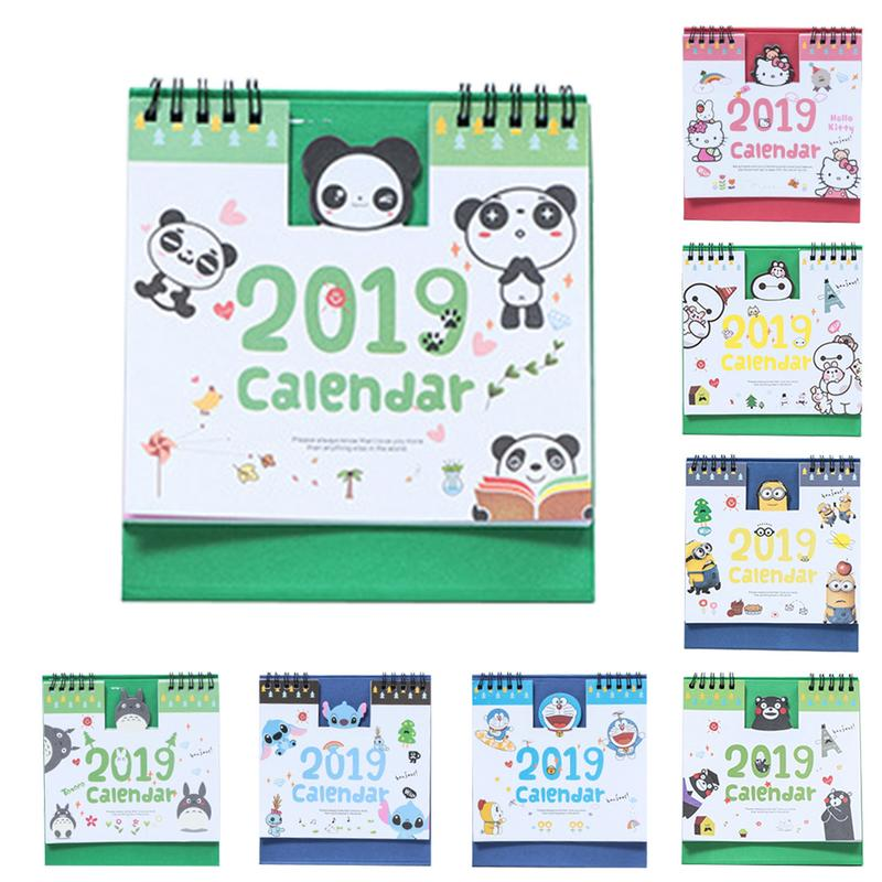 1 Piece 15cm 2019 Cute Animal Calendar Office Stationery Desk Notebook Promotion Gift Girls Birthday Gift Carefully Selected Materials Calendar Calendars, Planners & Cards