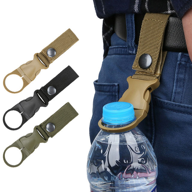 Portable Bottle Hook Carabiner Mountaineering Trekking Backpack Universal Belt Hook EDC Quickdraw Buckle Bottle Survival Kit