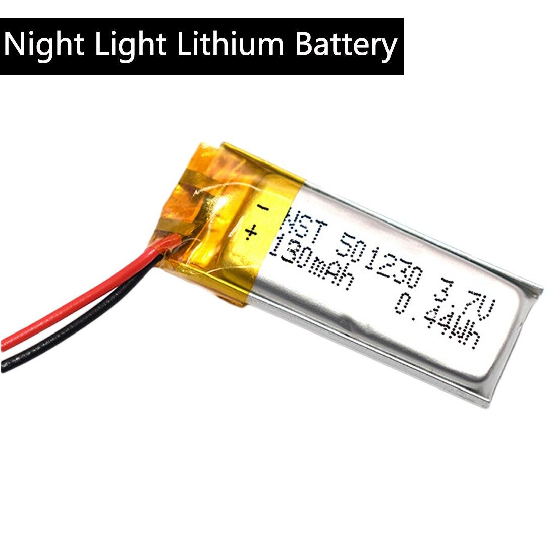 3,7 V 130 Mah 501230 Lithium-polymer Lipo Li Ionen Akku Lipo Zellen Für Mobile Bluetooth Kopfhörer Lautsprecher Mp3 Mp4 Neue 100% Original