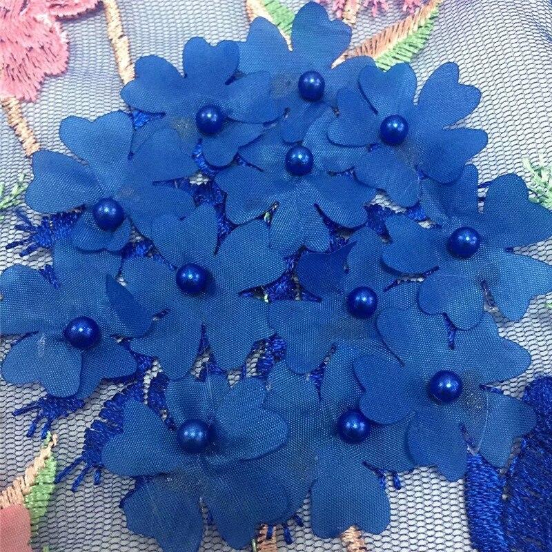 Flores y vides rosa y azul real con encaje de red FC74 de buena calidad precio al por mayor de encaje de tul africano tela-in encaje from Hogar y Mascotas    2