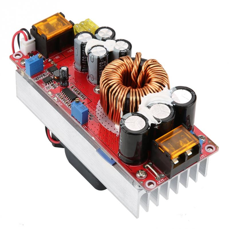1500W 30A Voltage Step Up Converter Boost CC CV Power Supply Module Step Up Constant Current Module DC-DC 10-60V to 12-97V