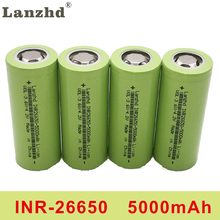 4PCS INR26650 lii-50A 26650 5000mah lithium battery 3.7V 5000mAh 26650 50A rechargeable battery suitable for flashligh