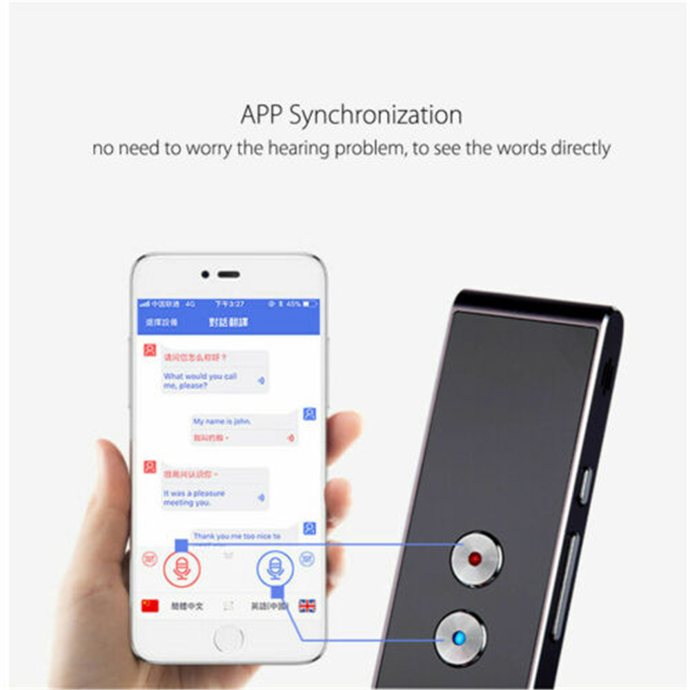 T8 Portable Mini Wireless Pocket Language Translator Support up to 40 Languages in Two Way Real Time with Instant Voice Translator APP and Bluetooth 4
