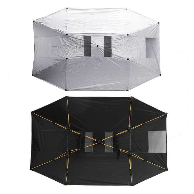 Portable Removable Outdoor Car Tent Umbrella Roof Sunshade Cover UV Protection Car Sun Shade Car Accessories Foil Sun Protection 2
