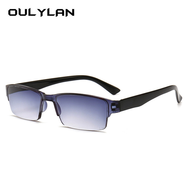 Oulylan Retro Ultra Light Reading Glasses Men Women Half Frame Glasses for Read Unisex Resin HD Eyewear +1.0 1.5 2.0 2.5 3.0