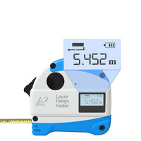 Mini 30M Laser Rangefinder + 5M Anti fall Steel Tape Metric and Inch Tape Measure High Precision Distance Meter