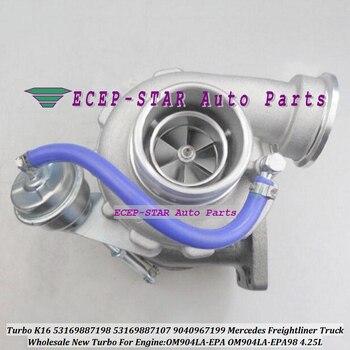 Turbo K16 53169887198 53169887107 9040967199 Turbocharger For Mercede*s For Freight*liner Truck OM904LA-EPA OM904LA-EPA98 4.25L