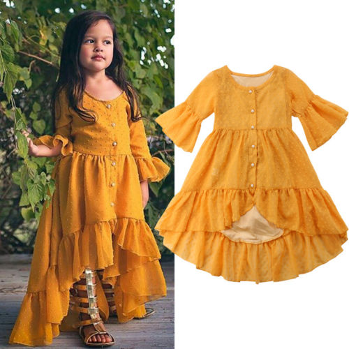 Emmababy Newest Kids Girl Lace Flower Ruffles Dress Maxi Long Princess Party Gown Flare Sleeve pop DressesEmmababy Newest Kids Girl Lace Flower Ruffles Dress Maxi Long Princess Party Gown Flare Sleeve pop Dresses