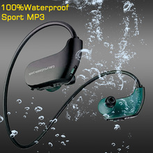 100% Original Waterproof Mp3 Player Swimming Earphones Sport Earbuds Neckband 8GB Portable headphones USB Mini HIFI Music