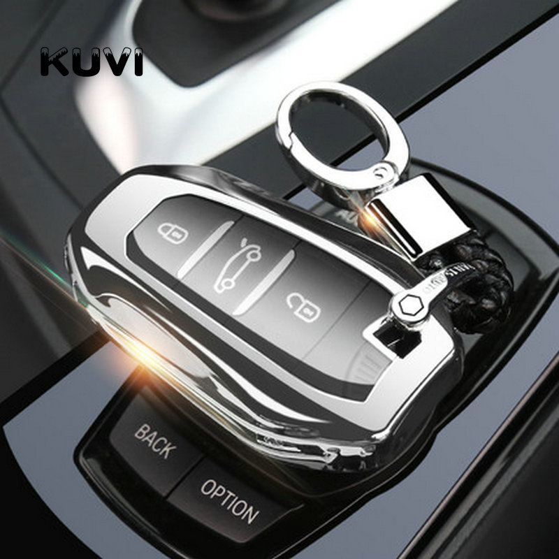 Car Key Case Soft TPU Smart Remote Key Cover Shell For Peugeot 208 308 508 For Citroen C4 Picasso DS3 DS4 DS5 DS6
