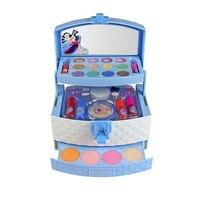 Children's Cosmetics Princess Makeup Box Set Safe Non Toxic Girl Makeup Kit Box Eyeshadow Lipstick Palette Box Girls Beauty Toy