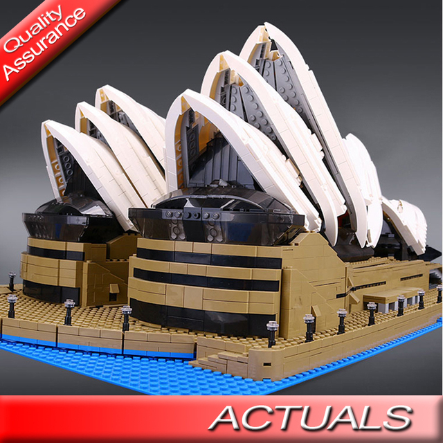 Us 50 0 2980 Pcs Lepin 17003 Lele Architecture Expert Sydney Opera House Building Block Famous Bricks Toy Compatible With Lego 10234 In Blocks From