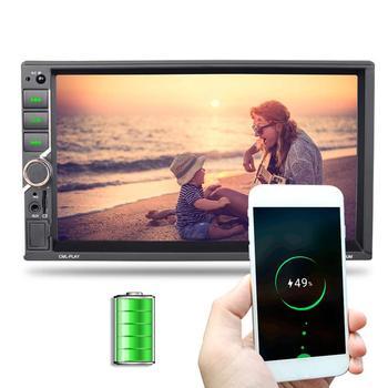 2DIN Car Multimedia Player Steering Wheel Control FM Radio Bluetooth Hands-free Calls Dual USB Charging Mirror Link Universal