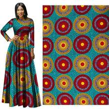 6 yard lot Wholesale of batik fabrics from cotton printed for the new style African national costumes in spring